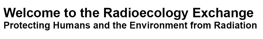 Welcome to the Radioecology Exchange